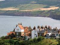 Resplendent Robin Hoods Bay and bay town